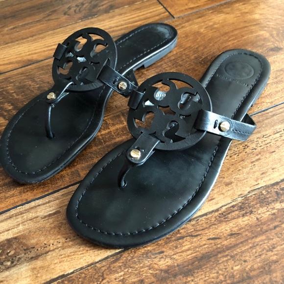 49b159dce5aee Tory Burch Shoes - Tory Burch Black Miller Sandal Size 9